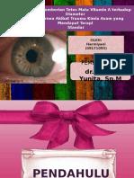 Pengaruh Pemberian Tetes Mata Vitamin a Terhadap Diameter -Pptx