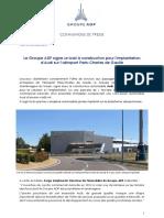 03.10.16 - Groupe ADP Signe Un Bail à Construction Pour l'Implantation d'Audi à Paris-CDG