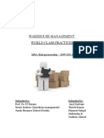 103021172 Warehouse Management Final Project Report