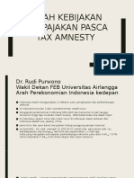 Arah Kebijakan Perpajakan Pasca Tax Amnesty