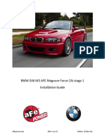 BMW E46 Convertible AFE CAI Stage 1 Installation Guide