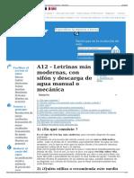 A12 - Letrinas Más Modernas Con Sifón y Descarga de Agua Ma