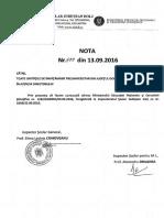 Nota ISJ 499 din 13.09.2016
