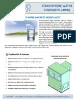 Atmospheric Water Generator NEW