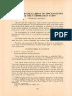 PLJ Volume 55 Fourth Quarter -02- Esteban B. Bautista - Rights and Obligations of Stockholders Under the Corporation Code
