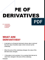 Scope of Derivatives
