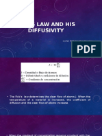 Fick's Law and His Diffusivity