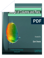 Design of Columns and Piers With Slenderness