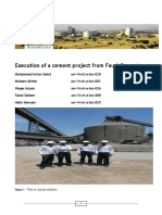 Execution of a Cement Project From Faugi Cement1 1