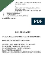 AMALAN SHOLAT
