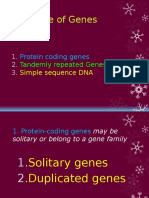 UNIT v Protein Coding Genes Tandemly Repeated and Simple Sequnece DNA