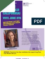 SEIU-ULTCW Voter Guide (June 8th, 2010)