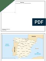 Mapa de España 2 Con Nombres Para Colorear