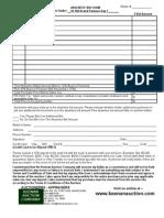 Absentee Bid Form 10-160
