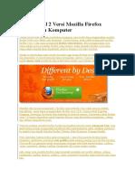 Cara Install 2 Versi Mozilla Firefox Dalam Satu Komputer
