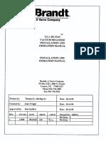 Brandt VG-1 HY-FLO Degasser Manual