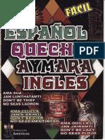 Diccionario Español Quechua Aimara Ingles - Folleto