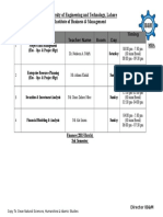 Time Table MBA 1.5(Finance)