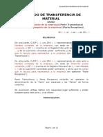 Acuerdo de Transferencia de Material