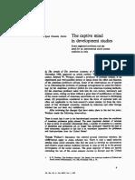The Captive Mind in Development Studies Pt 1