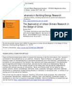 Urban Climate in Design of Cities