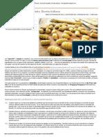 Ñoquis o Gnocchi de Patata. Receta Italiana Recetasderechupete