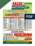 IAS/IFoS Mathematics