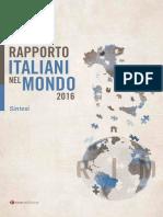 Il rapporto Italiani nel Mondo 2016