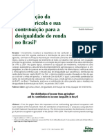 Distribuição da renda agrícola e sua contribuição para a  desigualdade de renda no Brasil1