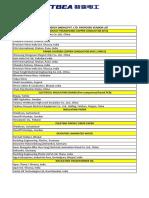 TBEAEI Vendor List for Customers