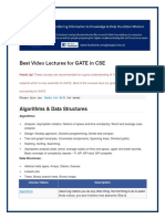 Best Video Lectures for GATE in CSE
