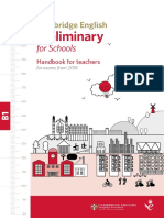 Cambridge English Preliminary for Schools Handbook