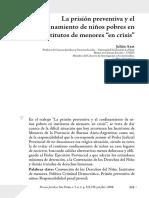 Atax, J. La Prision Preventiva y El Confinamiento de Niños Pobres en Institutos de Menores en Crisis_Argentina
