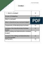 Overhead Budget