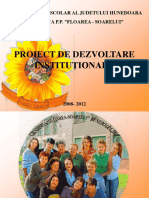 Proiect Dezvoltare Institutionala Elena Barboni