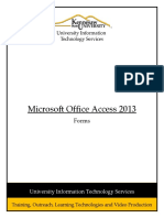 Microsoft Office Access 2013 Forms Rev
