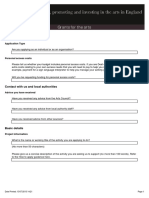 Arts Council App Form