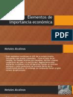 Elementos quimicos de Importancia Económica