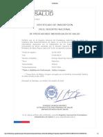Certificado Rodrigo Paz