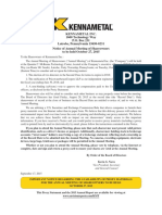 Kennametal Inc - Oct2015 Proxy Statement