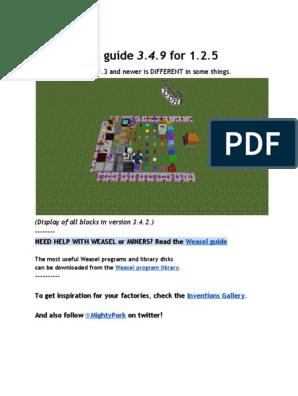 Power Craft User's Guide   Elevator   Mining