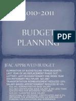 2010-2011 Budget Planning