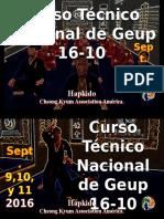 Afiche Curso Técnico Nacional de Geup. 16-10