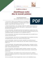 MN 006 Akankheyya sutta - Ako bi monah poželeo