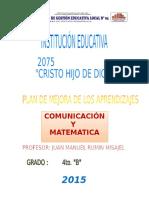 Informe Kit de Evaluación Cuarto B- 2016
