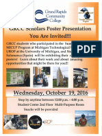2016 GRCC Scholars Poster Presentation Invite.pub