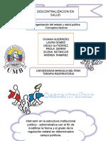 Descentralizacion en Salud