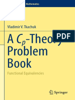 (Problem Books in Mathematics) Vladimir v. Tkachuk (Auth.)-A Cp-Theory Problem Book_ Functional Equivalencies-Springer International Publishing (2016)