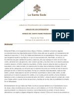Papa Francesco 20160925 Omelia Giubileo Catechisti