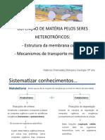 1 Obtenc3a7c3a3o de Materia Pelos Heterotrc3b3ficos Membrana e Transportes